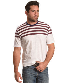 American Republic Men's Red Striped Tee , Red, hi-res