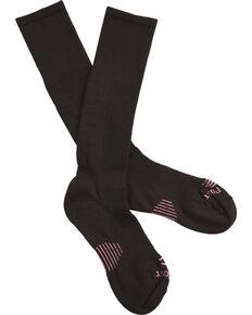 Dan Post Women's Cowgirl Certified Sleek Thin Socks - Black, Black, hi-res