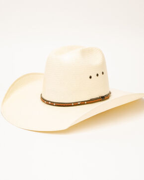 Rodeo King Women's Quenten Straw Hat, Natural, hi-res