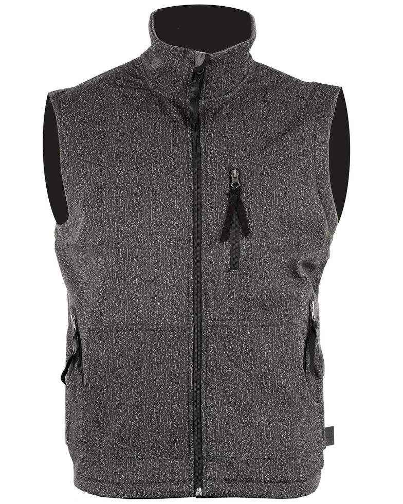 STS Ranchwear Men's Heather Grey Barrier Vest , Heather Grey, hi-res