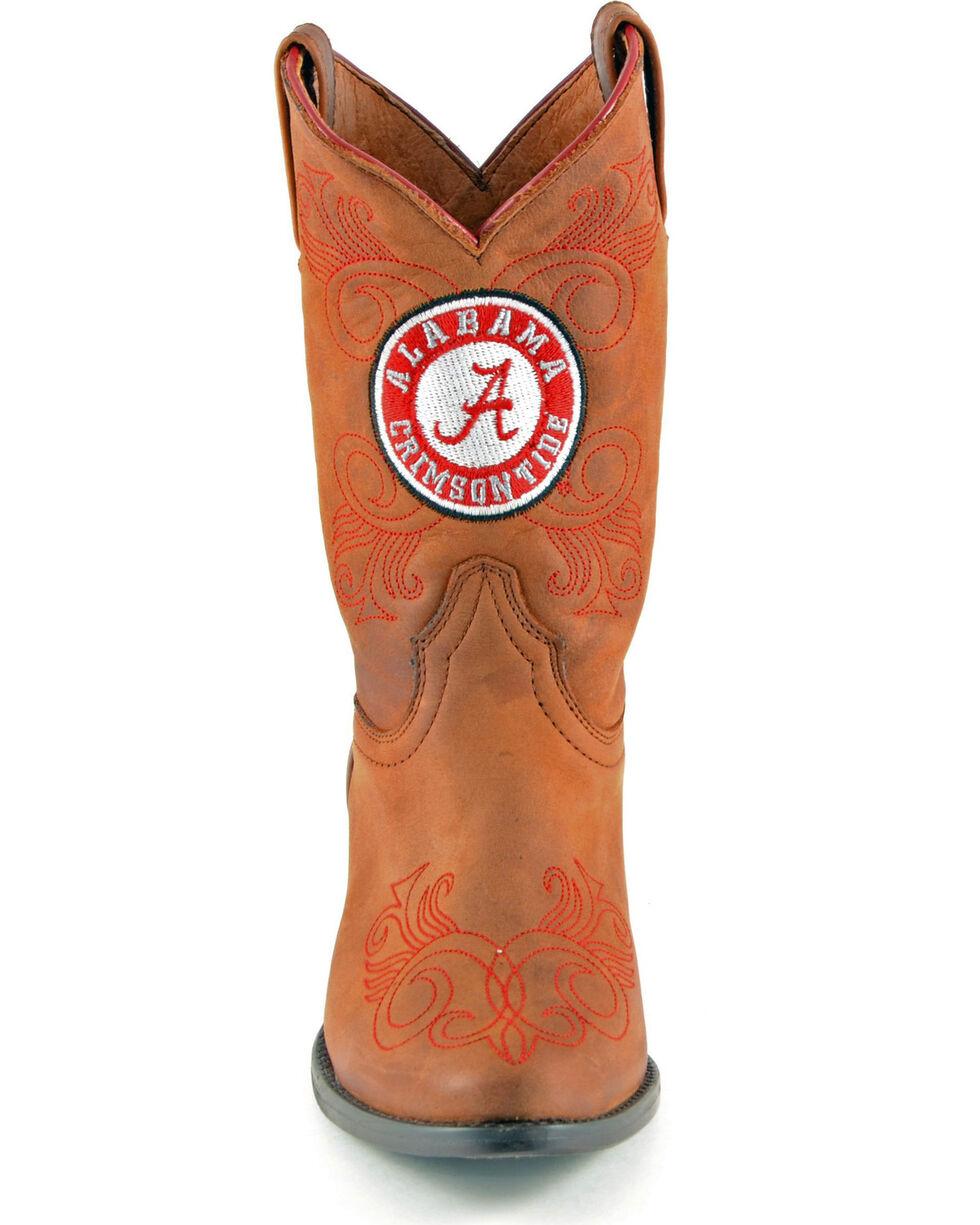 Gameday Boots Girls' University of Alabama Western Boots - Medium Toe, Honey, hi-res