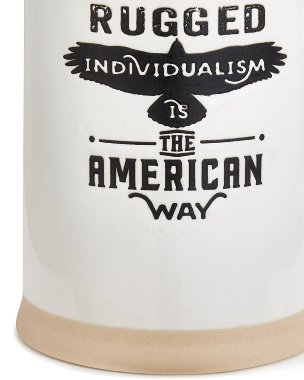 Demdaco White American Way Stein , White, hi-res