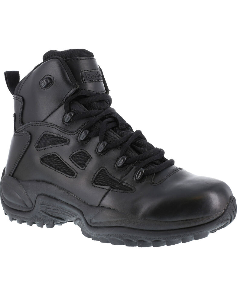 "Reebok Men's Stealth 6"" Lace-Up Work Boots - Soft Toe, Black, hi-res"