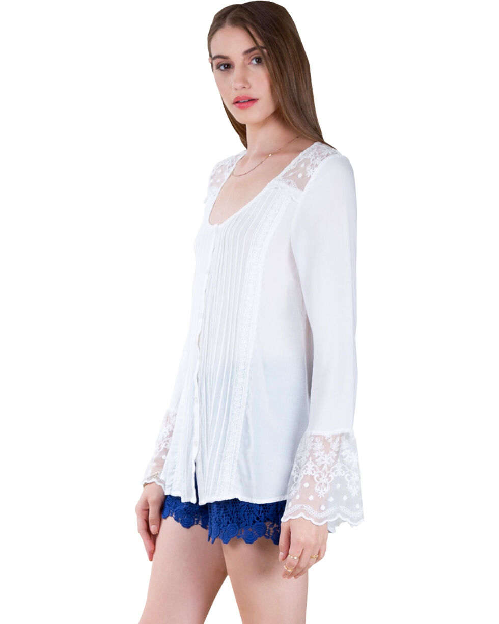 Black Swan Women's White Paris Top , White, hi-res
