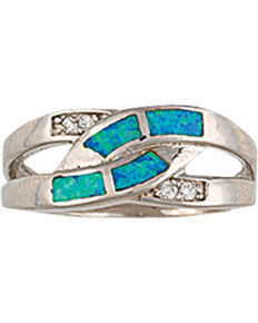 Montana Silversmiths River Lights Turning Streams Ring, Silver, hi-res