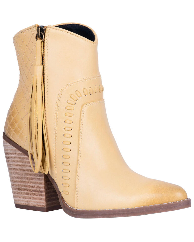 Dingo Women's Dream Big Fashion Booties - Snip Toe, Yellow, hi-res