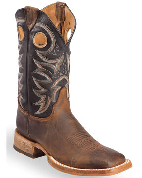 Justin Men's Pull Tab Western Boots, Tobacco, hi-res