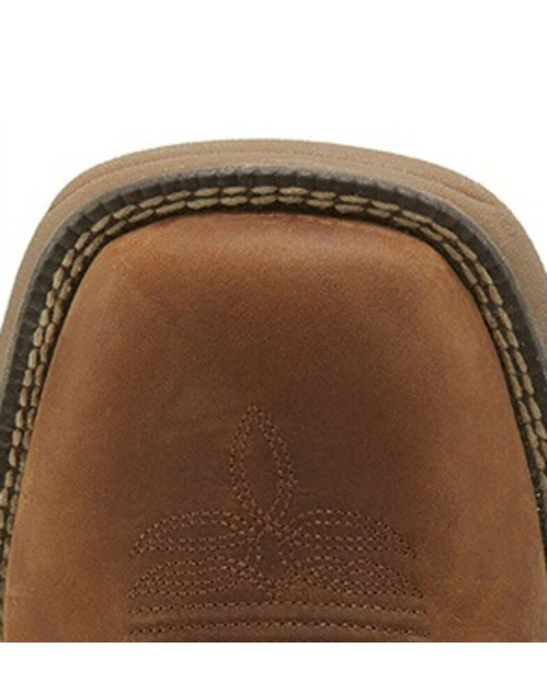 Justin Men's Stampede Rush Western Work Boots - Soft Toe, Brown, hi-res