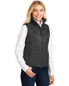 Port Authority Women's Black 2X Puffy Vest - Plus, Black, hi-res