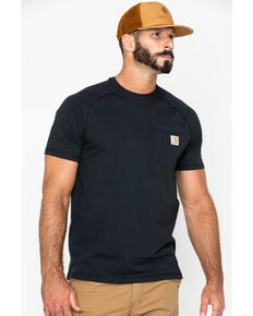 Carhartt Men's Short Sleeve Force T-Shirt, Black, hi-res