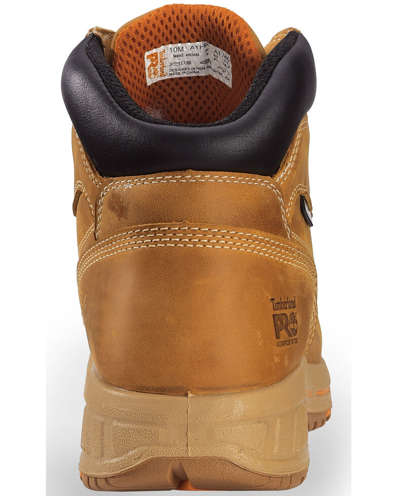 "Timberland PRO Men's Helix HD 6"" Work Boots - Comp Toe, Wheat, hi-res"