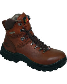 "Thorogood Men's American Heritage 6"" MAXwear 90 Waterproof Work Boots - Steel Toe, Brown, hi-res"