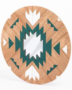 BB Ranch Aztec Wood Dream Catcher Mirror, Turquoise, hi-res