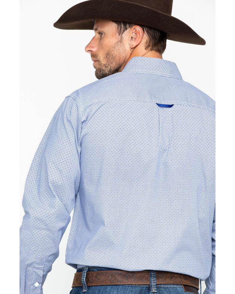 Tuf Cooper Men's Blue Geo Print Long Sleeve Shirt , Blue, hi-res