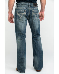 Rock & Roll Cowboy Men's Pistol Med Slim Bootcut Jeans , Blue, hi-res