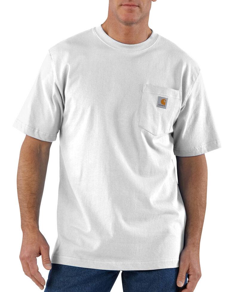 Carhartt Men's Solid Short Sleeve Pocket Work T-Shirt - Big & Tall, White, hi-res