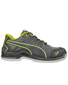 Puma Women's Fuse TC Low SD Work Shoes - Steel Toe, Black, hi-res