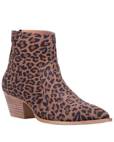 Dingo Women's Klanton Leopard Print Fashion Booties - Snip Toe, Leopard, hi-res