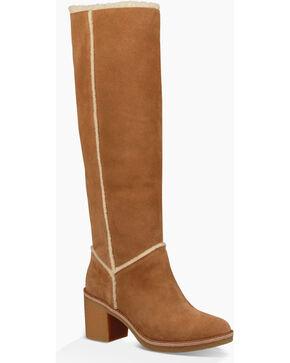 UGG Women's Tall Heeled Boots, Chestnut, hi-res