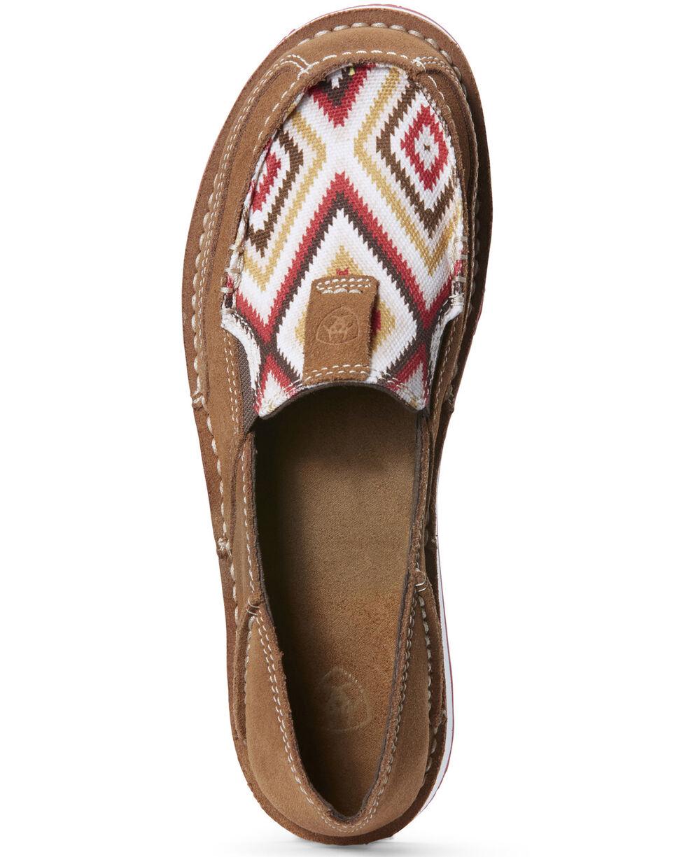 Ariat Women's New Earth Aztec Cruiser Shoes - Moc Toe, Sand, hi-res