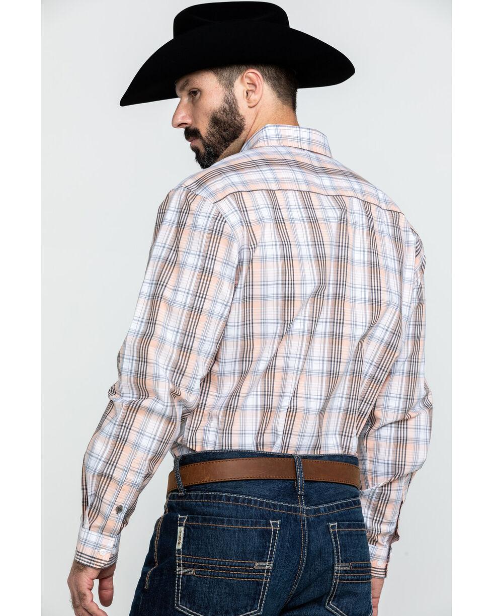 Cinch Men's Modern White Plaid Long Sleeve Western Shirt , White, hi-res