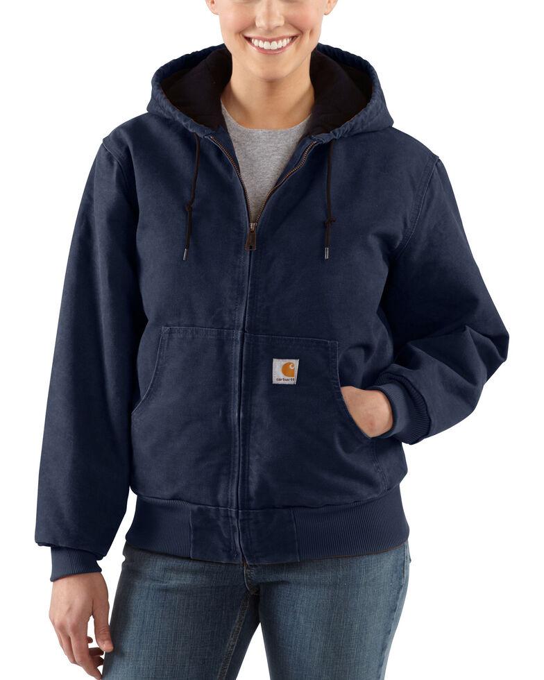 Carhartt Women's Sandstone Active Jacket, Navy, hi-res