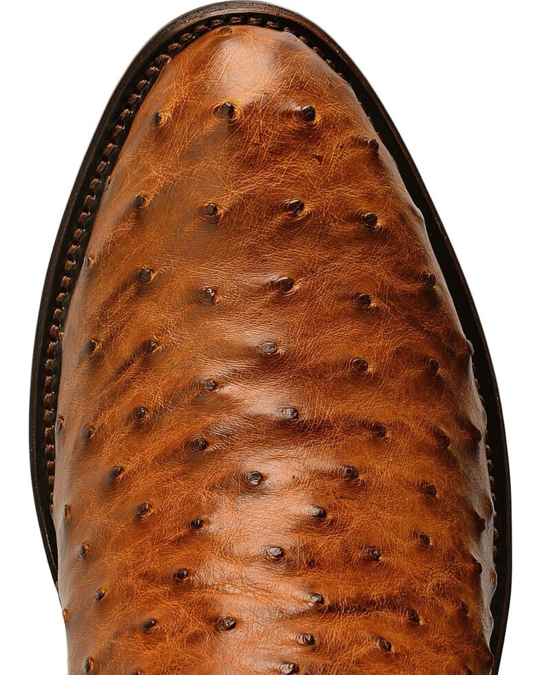 Lucchese Men's Montana Full Quill Ostrich Western Boots, Tan, hi-res