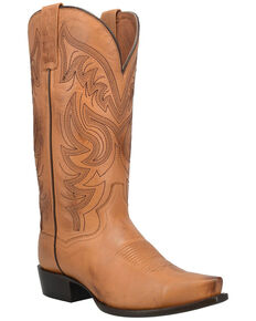 Dan Post Men's Wind River Western Boots - Snip Toe, Cognac, hi-res