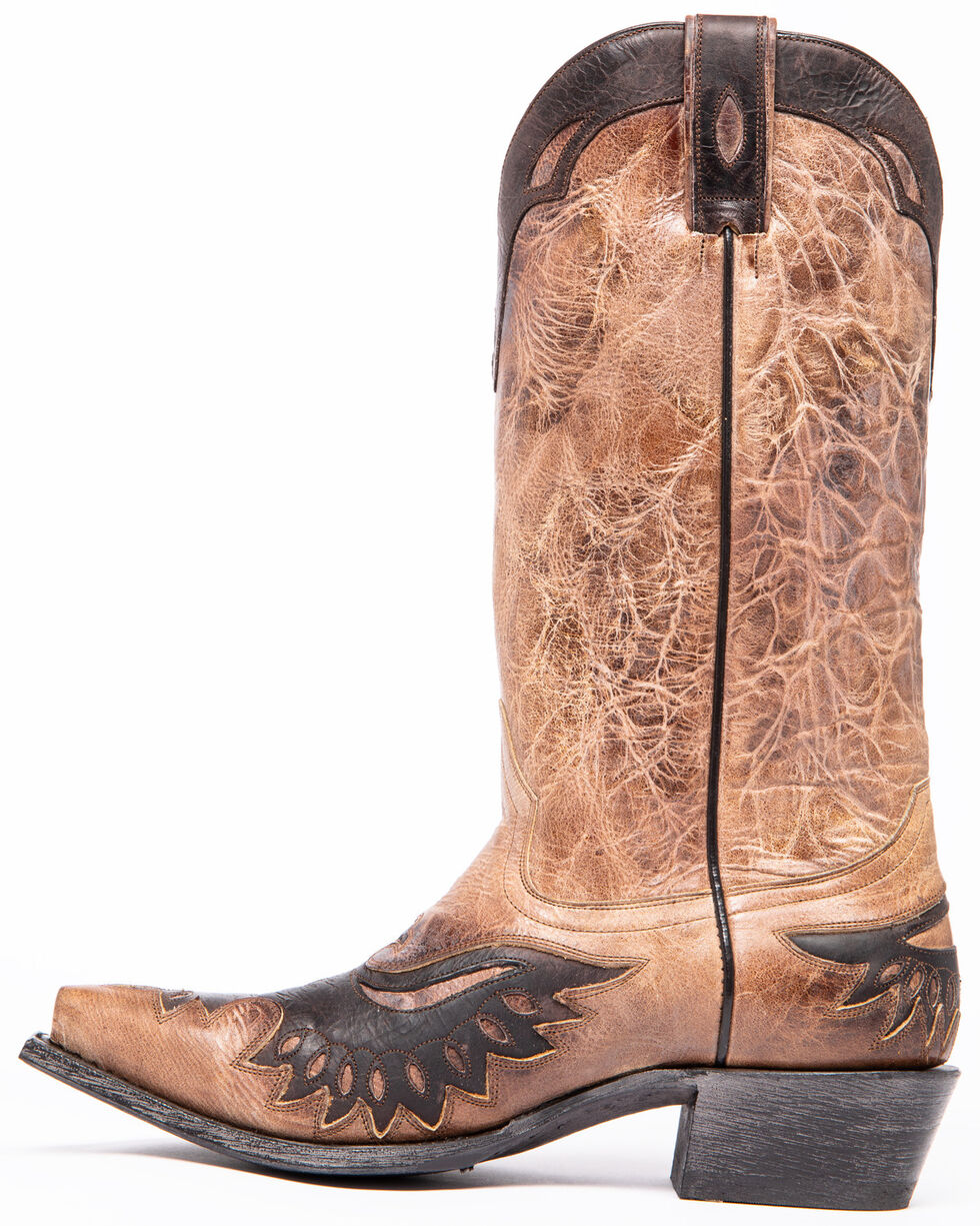Moonshine Spirit Men's Dublin Taupe Western Boots - Snip Toe, Taupe, hi-res