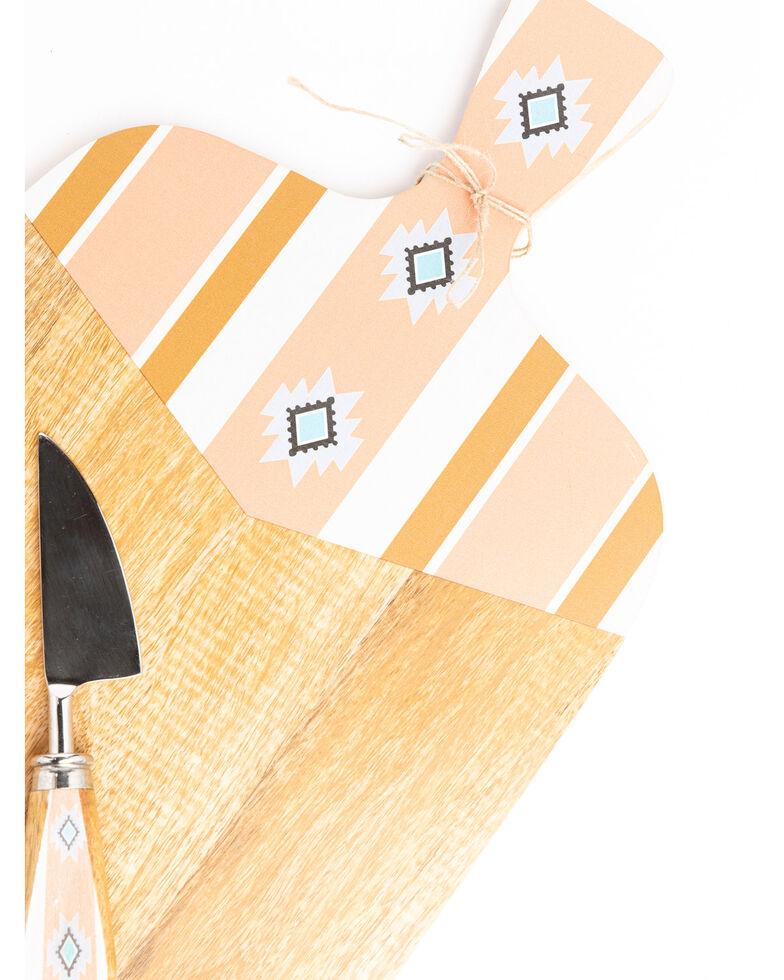 BB Ranch® Aztec Wood Paddle Cheese Board Set, Pink, hi-res
