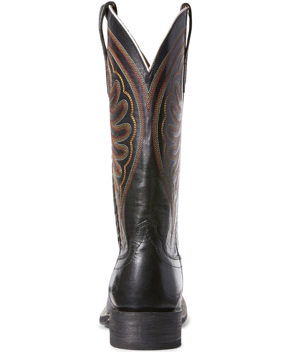 Ariat Women's Shiloh Phantom Western Boots - Wide Square Toe, Black, hi-res