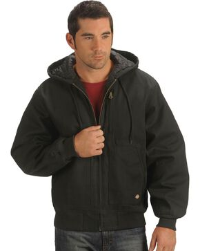 Dickies Rigid Duck Hooded Jacket, Black, hi-res