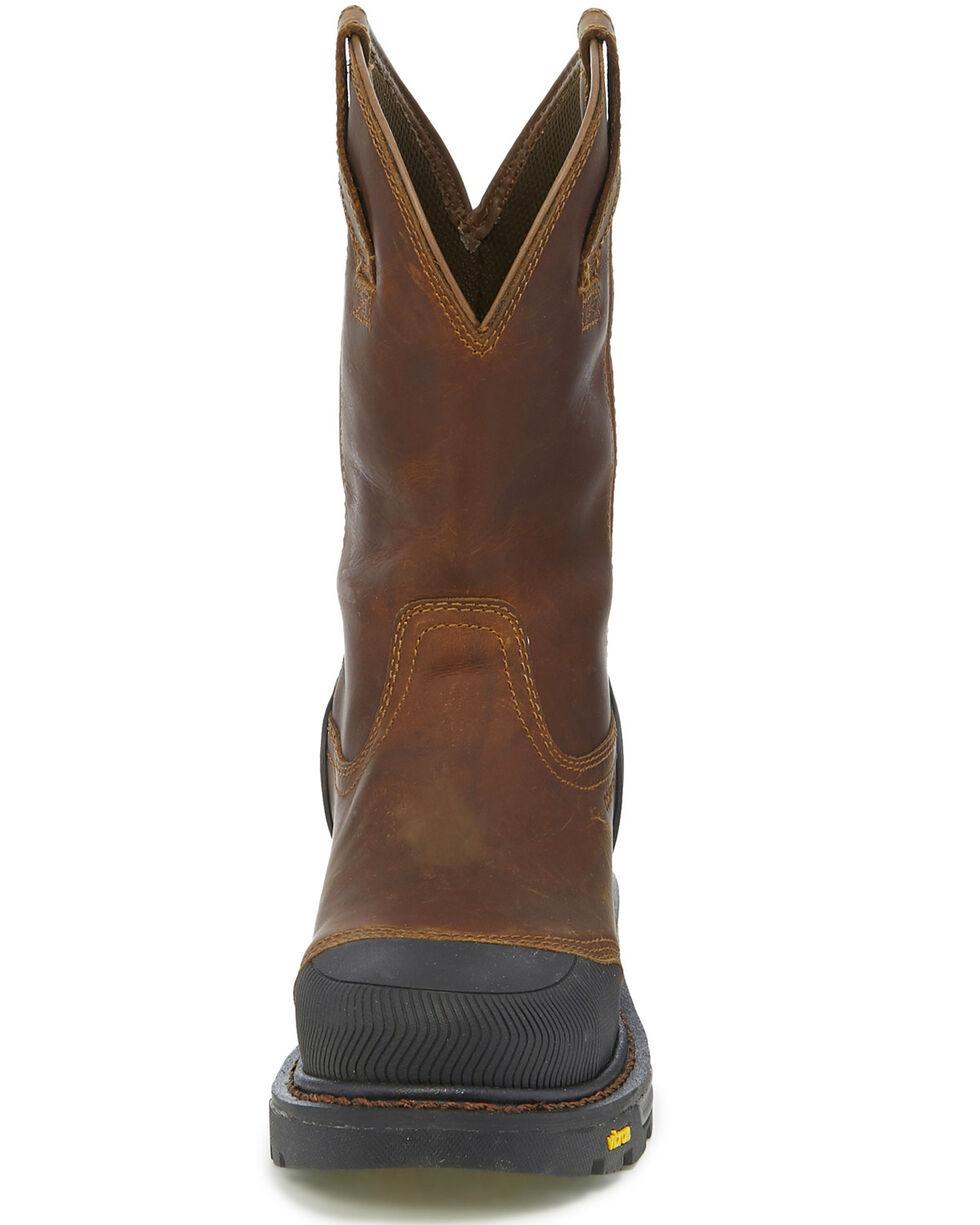 Justin Men's Chestnut Warhawk Waterproof Work Boots - Composite Toe, Chestnut, hi-res