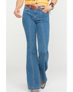 Wrangler Women's Modern Classic Seamed Flare Jeans, Blue, hi-res
