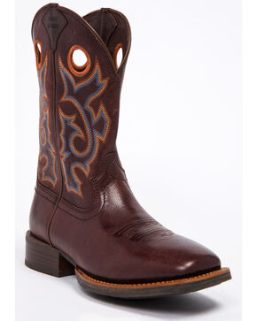 Cody James Men's Xero Gravity Chocolate Western Boots - Wide Square Toe, Brown, hi-res