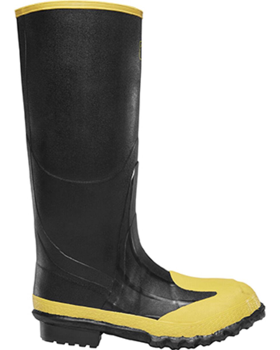 "Lacrosse Men's 16"" Meta Steel Toe Work Boots, Black, hi-res"