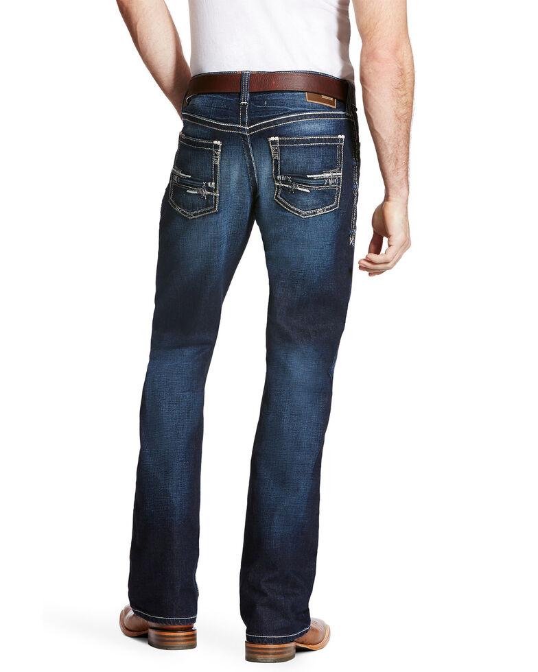 Ariat Men's M4 Adkins Turnout Bootcut Jeans - Big, Blue, hi-res