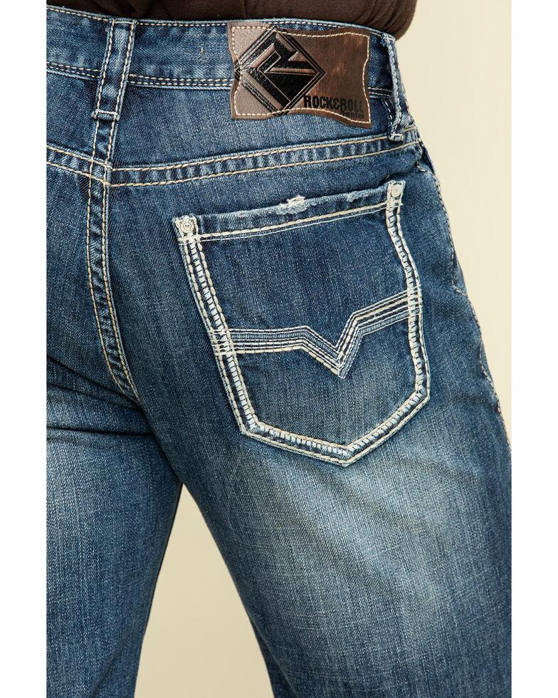 Rock & Roll Cowboy Men's Double Barrel Dark Vintage Relaxed Bootcut  Jeans , Blue, hi-res