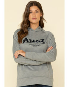 Ariat Women's Heather Grey Logo Sweatshirt, Grey, hi-res