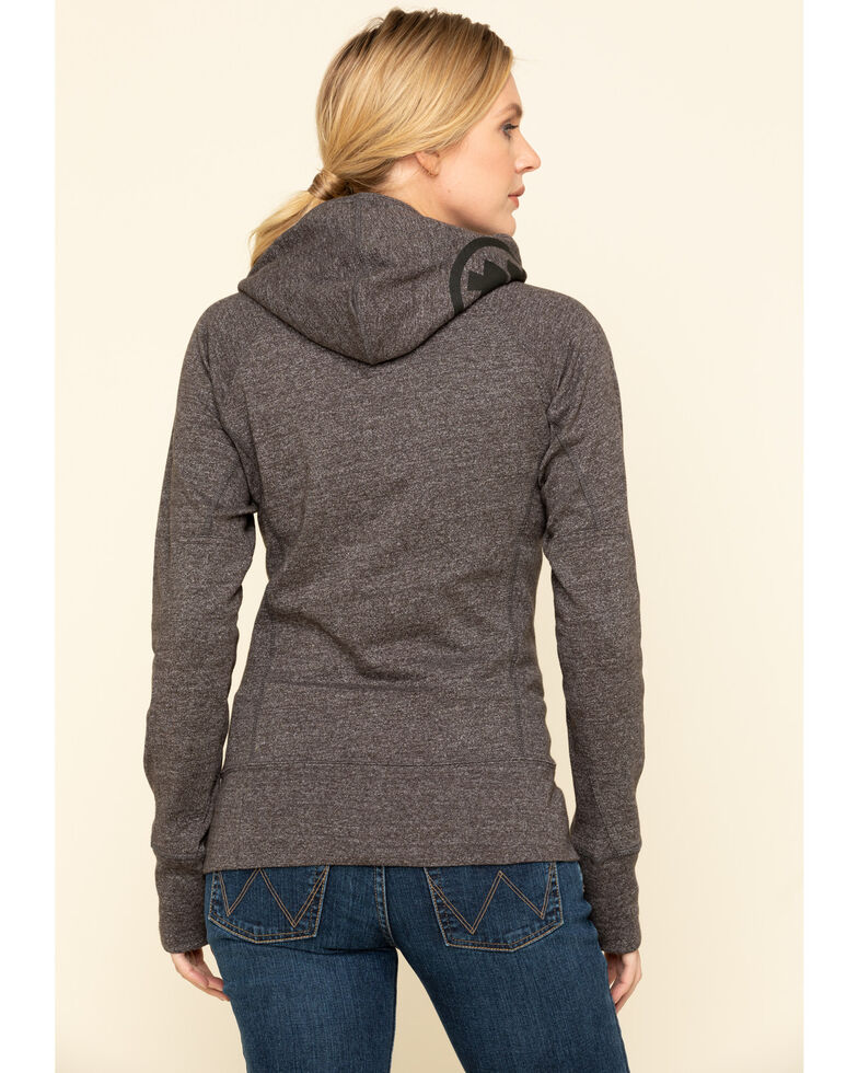 Dovetail Workwear Women's Grey Heather French Terry Hoodie, Heather Grey, hi-res