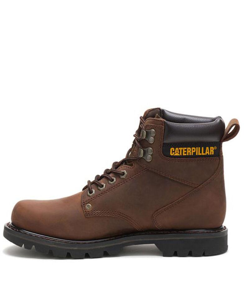 CAT Men's Second Shift Work Boots, Dark Brown, hi-res