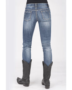 Stetson Women's 503 Pixie Stix Fit Skinny Straight Jeans, Blue, hi-res