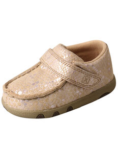 Twisted X Infant Girls' Moc Shoes - Moc Toe, Tan, hi-res