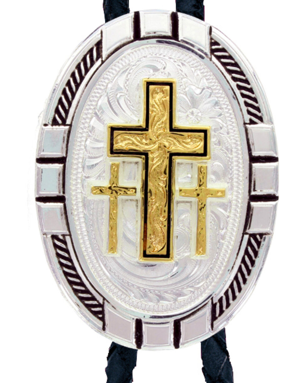 Montana Silversmiths New Traditions Four Directions Cross Bolo Tie, Multi, hi-res