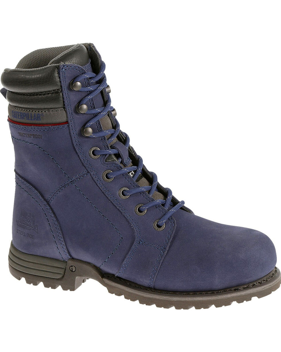 Caterpillar Women's Purple Echo Waterproof Work Boots - Steel Toe , Purple, hi-res