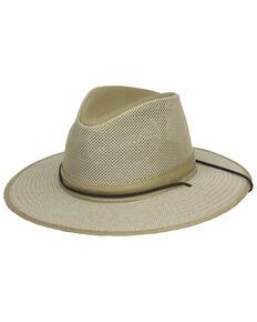 Henschel Men's Khaki Aussie Crush Breezer Sun Hat, Beige/khaki, hi-res