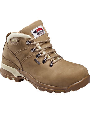 Avenger Women's Waterproof Hiker Work Boots - Composite Toe, Camel, hi-res