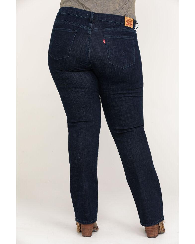 Levi's Women's Island Rinse Classic Straight Jeans - Plus, Blue, hi-res