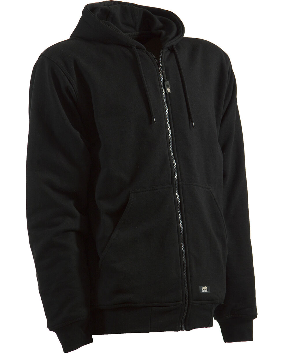Berne Men's Original Hoodie - 5XT and 6XT, Black, hi-res