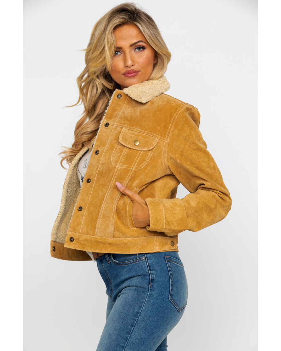 Scully Women's Faux Shearling Jean Jacket, Rust Copper, hi-res
